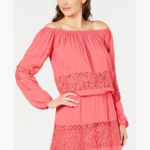 NWT Guess Viola Lace Off-The-Shoulder Top